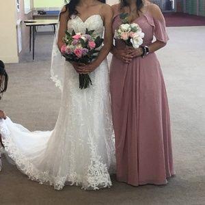 Azazie bridesmaids dress (Dakota). Dusty rose.